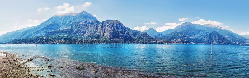 Mooie mening van toneelcomo-meerpanorama, Lombardije, Italië stock foto