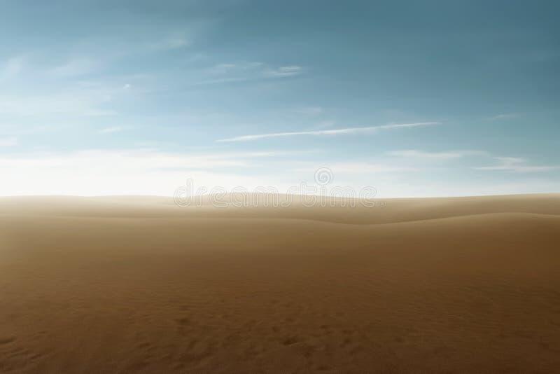 Mooie mening van woestijn royalty-vrije stock afbeeldingen