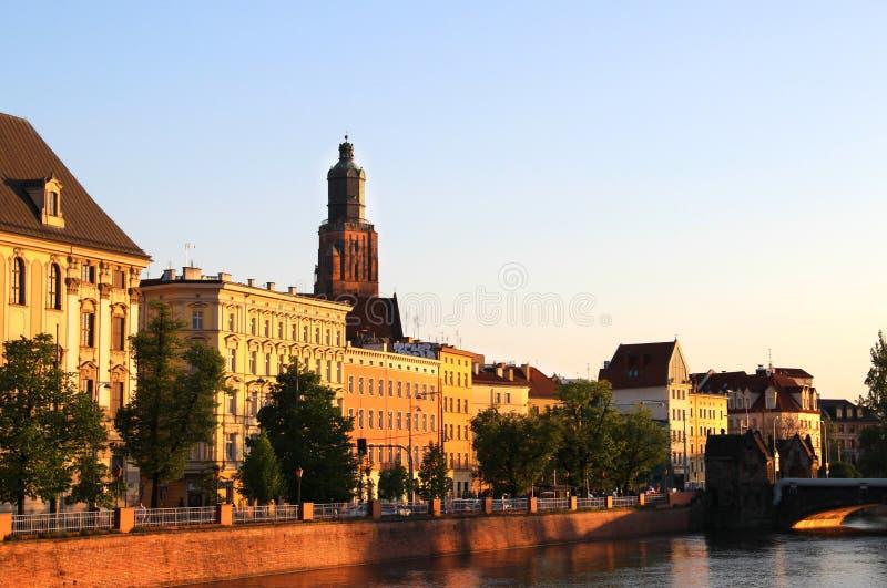 Mooie mening van Wroclaw, Polen royalty-vrije stock fotografie