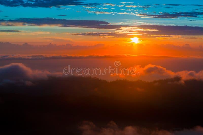 Mooie mening vanaf de bovenkant van Batur-vulkaan bali royalty-vrije stock afbeeldingen