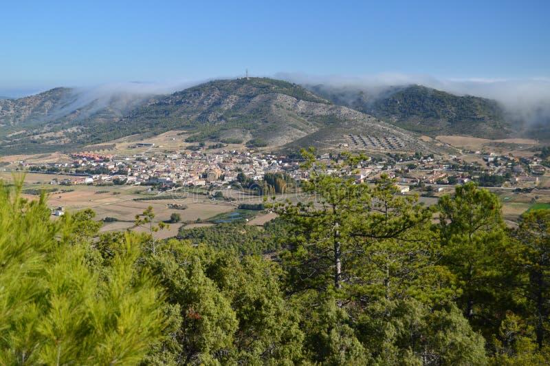 Mooie Meningen van Albalate van Zorita van de Onderstelwaaier van Altomira De Vakantie van de landschappenreis royalty-vrije stock afbeeldingen