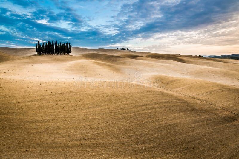 Mooie meningen van de herfstlandschap in Toscanië royalty-vrije stock foto's