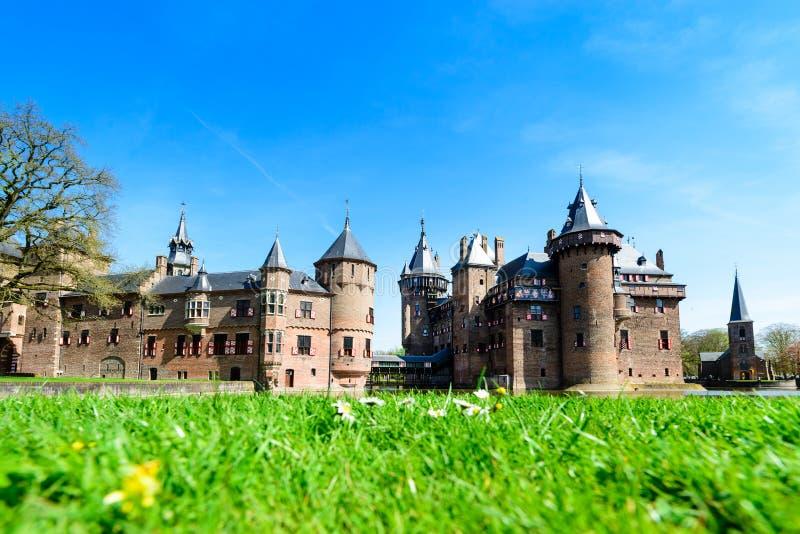 Mooie middeleeuws, fantasie, oud Holland De Haar-kasteel op s stock fotografie