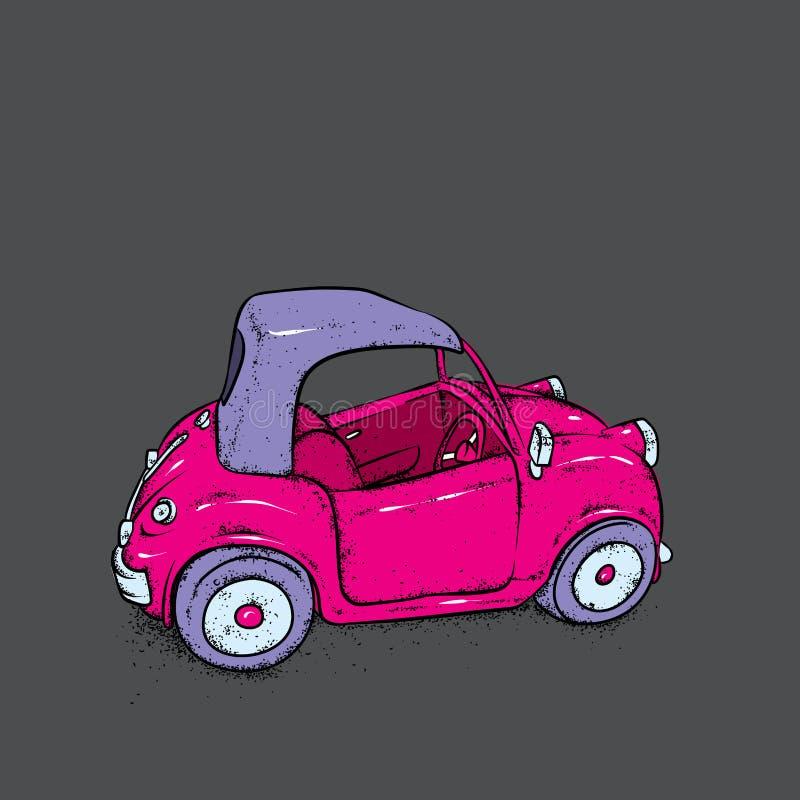 Mooie miniatuurauto Vector illustratie De Auto van Nice Uitstekende auto Beeld voor prentbriefkaar of affiche, druk royalty-vrije illustratie