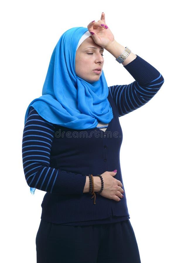 Mooie Moderne Moslim Zieke Vrouw royalty-vrije stock fotografie