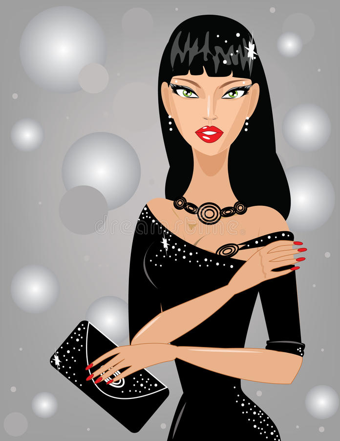 Mooie modieuze vrouw stock illustratie