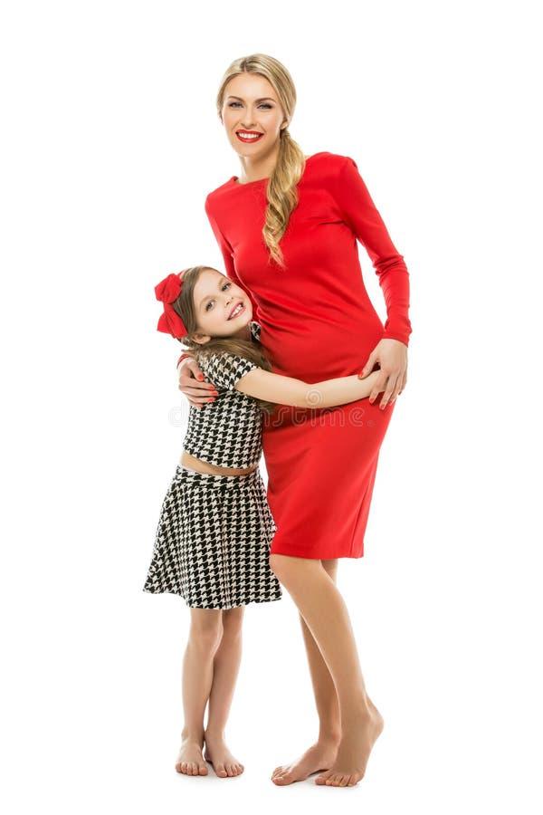 Mooie moeder en dochter royalty-vrije stock afbeeldingen