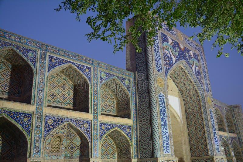 Mooie Moskee in Boukhara Oezbekistan Centraal-Azië royalty-vrije stock foto
