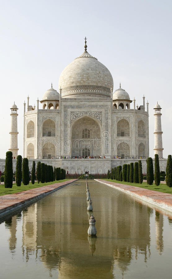 Mooie moskee Taj Mahal. Agra, India royalty-vrije stock foto
