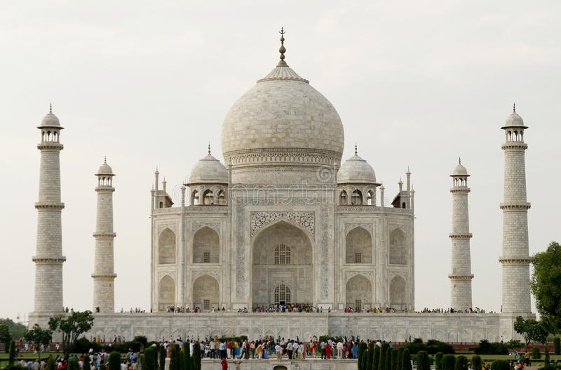 Mooie moskee Taj Mahal. Agra, India stock foto