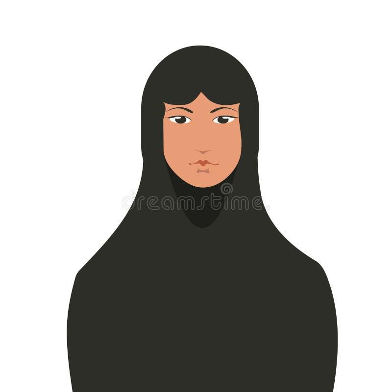 Mooie moslimvrouw royalty-vrije illustratie