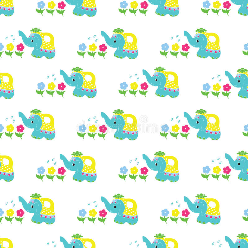 Mooie multi-colored olifant stock illustratie