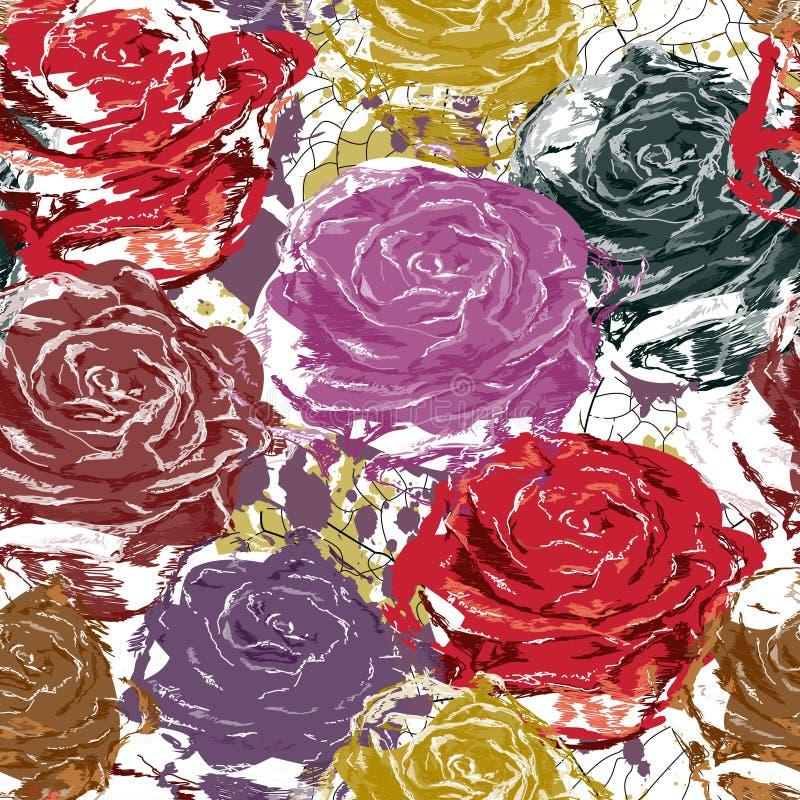 Mooie naadloze rozen stock illustratie