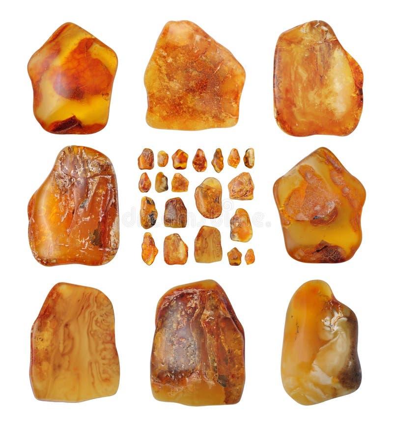 Mooie natuurlijke Baltische amber stock fotografie