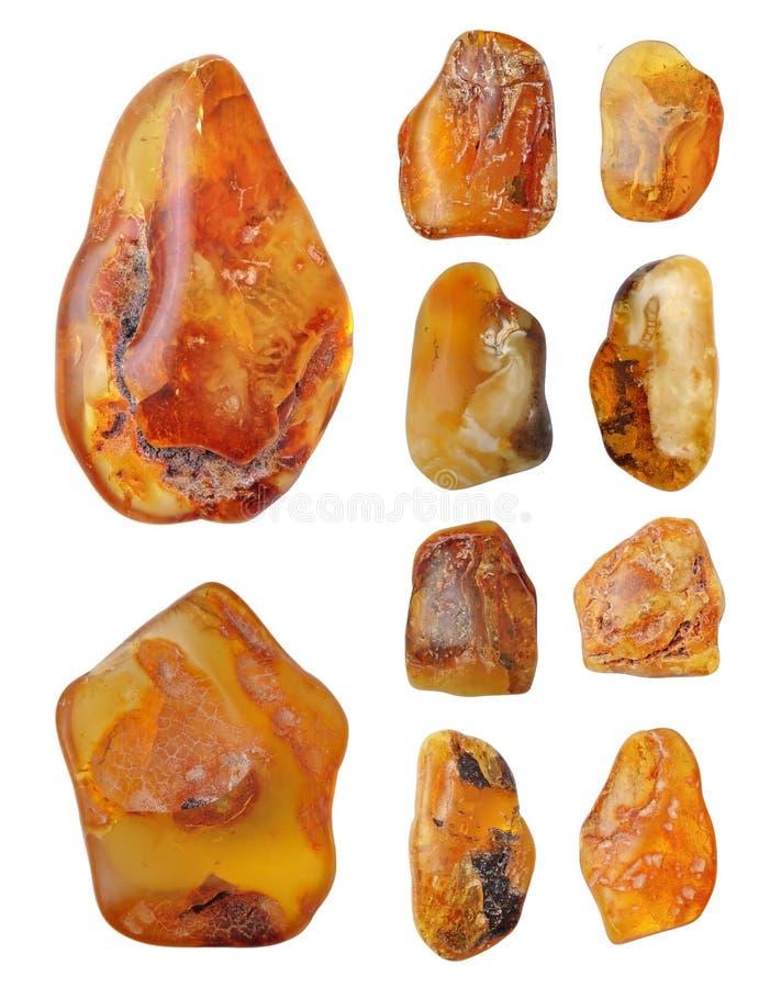 Mooie natuurlijke Baltische amber stock afbeelding