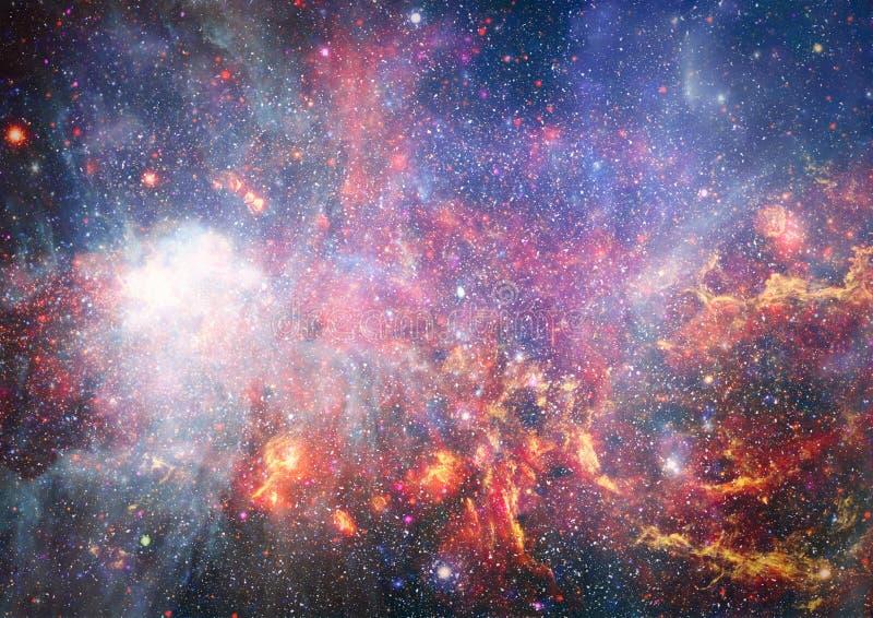 Mooie nevel, sterren en melkwegen Elementen van dit die beeld door NASA wordt geleverd royalty-vrije stock foto's