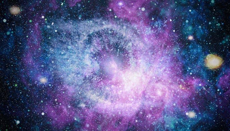 Mooie nevel, sterren en melkwegen Elementen van dit die beeld door NASA wordt geleverd stock fotografie