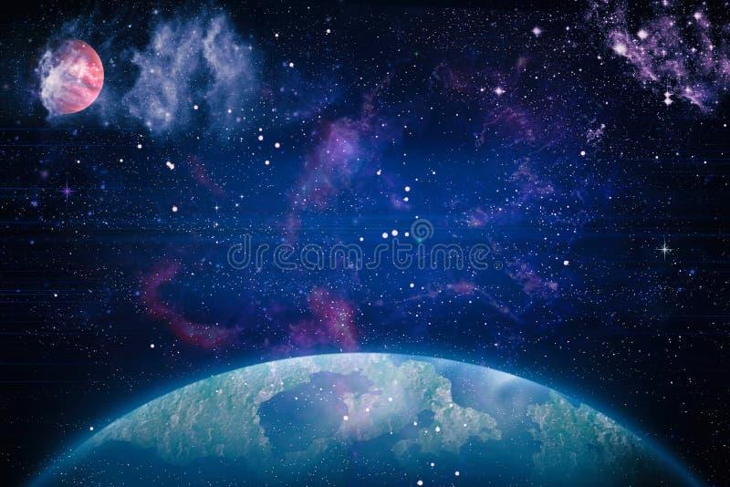 Mooie nevel, sterren en melkwegen Elementen van dit die beeld door NASA wordt geleverd royalty-vrije stock afbeeldingen