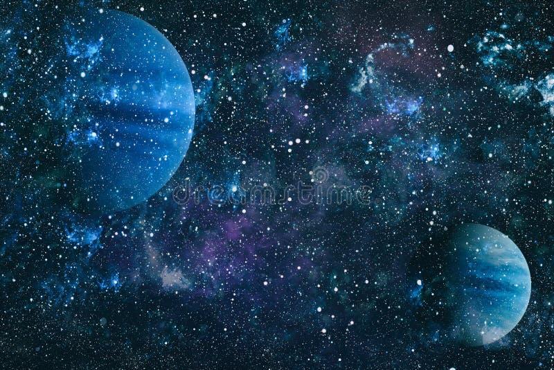Mooie nevel, sterren en melkwegen Elementen van dit die beeld door NASA wordt geleverd stock foto's