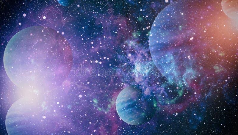 Mooie nevel, sterren en melkwegen Elementen van dit die beeld door NASA wordt geleverd royalty-vrije stock fotografie