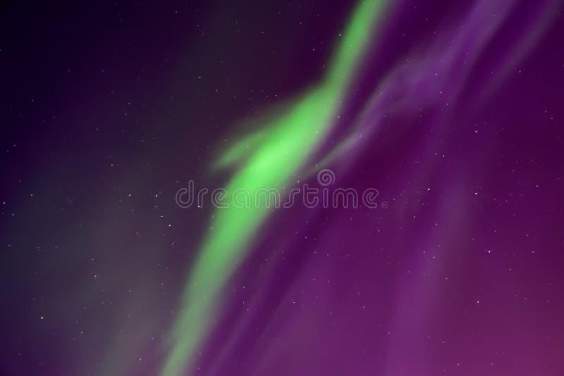 Mooie noordelijke lichten in de hemel Aurora Borealis royalty-vrije stock foto