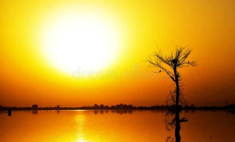 mooie ochtend bij chandaimeer Jaipur royalty-vrije stock foto