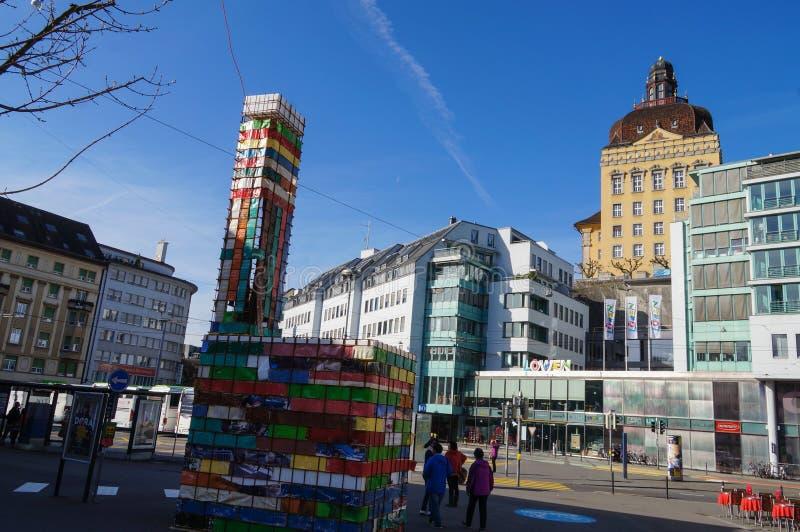 Mooie ochtend in de lente, Luzern royalty-vrije stock foto