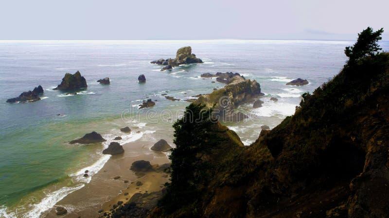 Mooie ochtend op de Kust van Oregon stock afbeelding