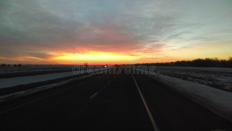 Mooie ochtendzonsopgang stock afbeeldingen