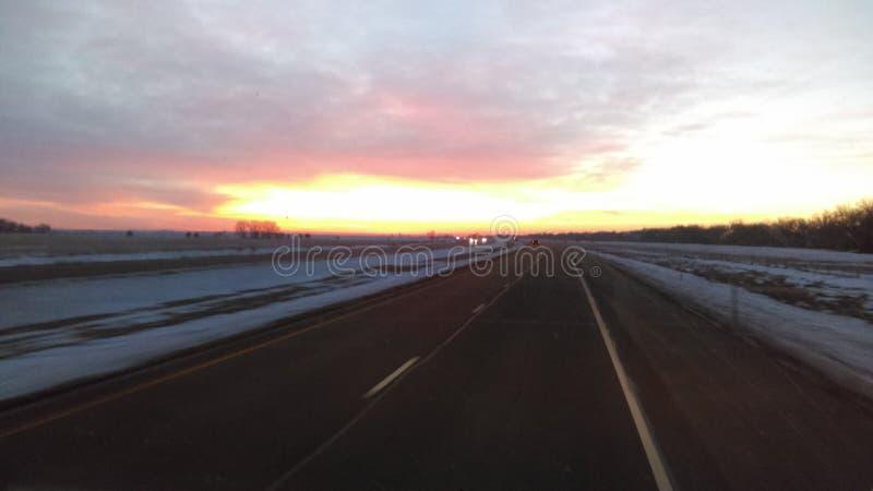 Mooie ochtendzonsopgang stock afbeelding