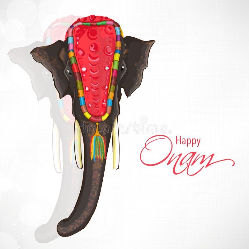 Mooie olifant voor Gelukkige Onam-viering vector illustratie