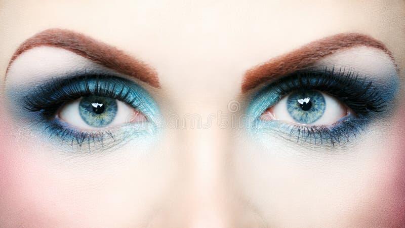 Mooie oogmake-up stock afbeelding