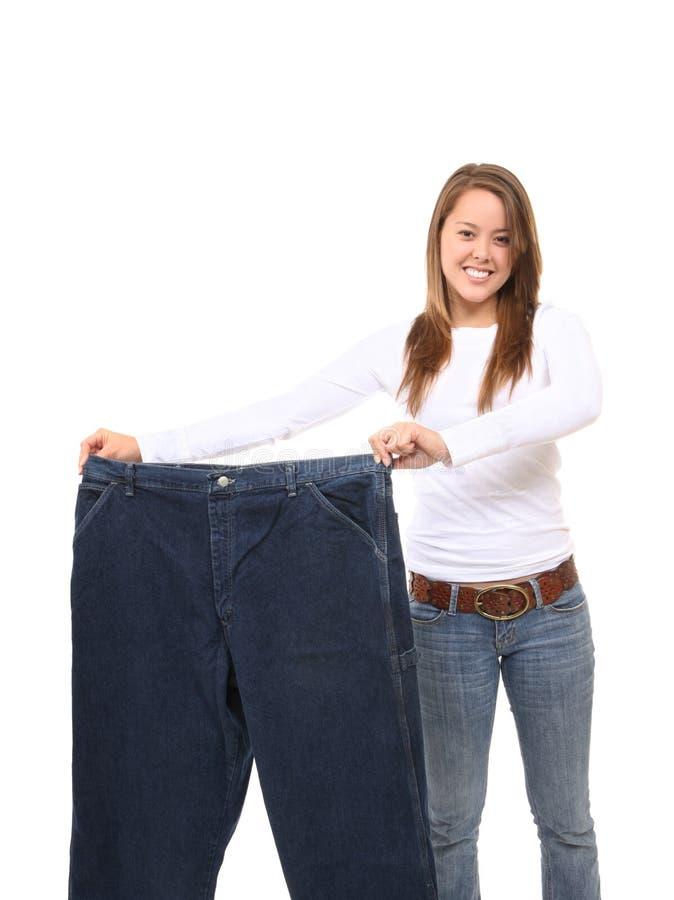 Mooie Op dieet zijnde Vrouw stock foto's