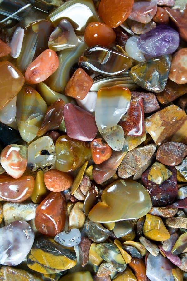 Mooie opgepoetste stenen. stock afbeelding