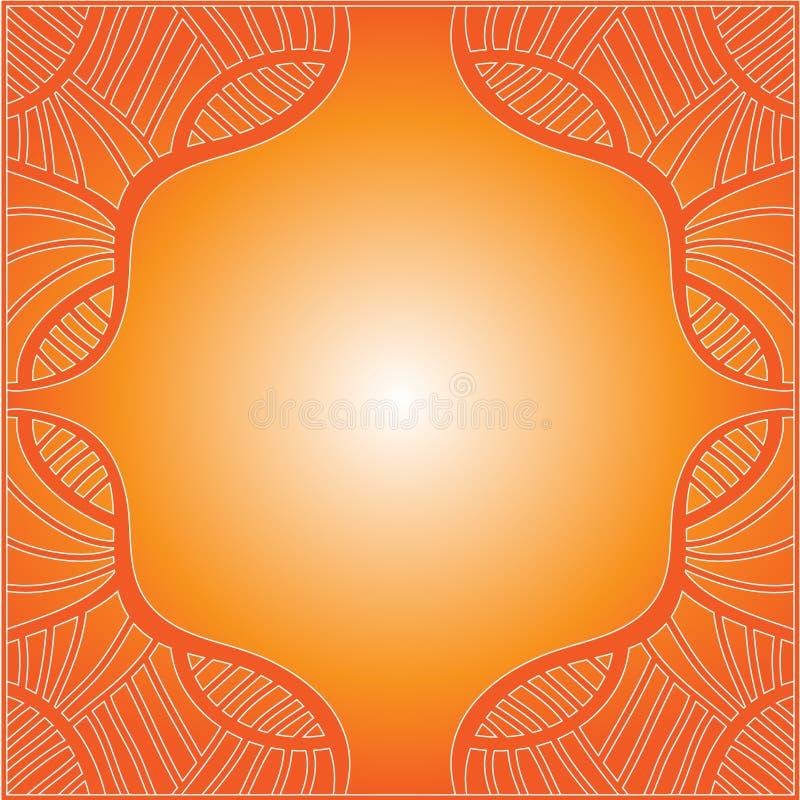 Mooie oranje achtergrond royalty-vrije illustratie