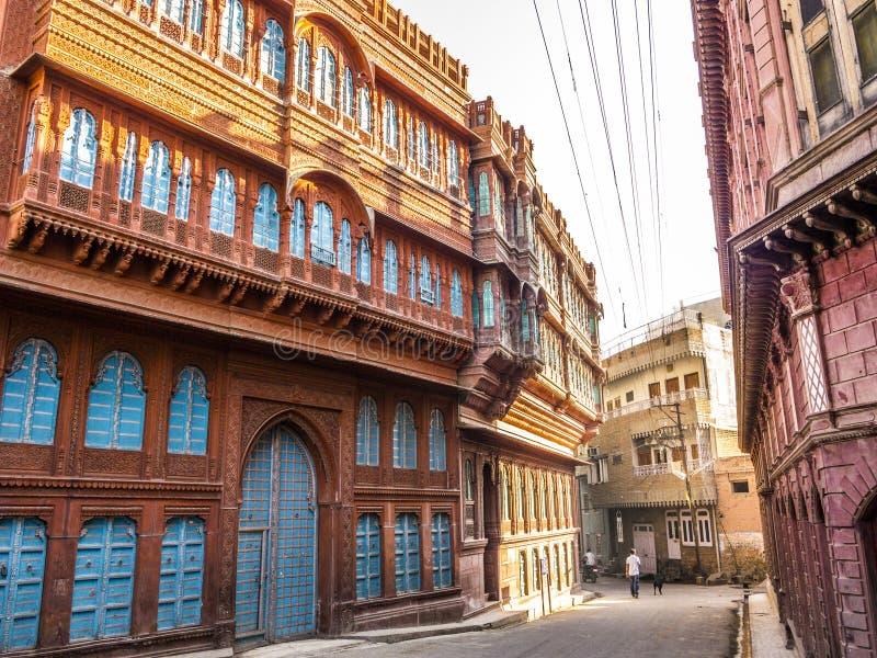 Mooie oude haveli in Bikaner royalty-vrije stock foto