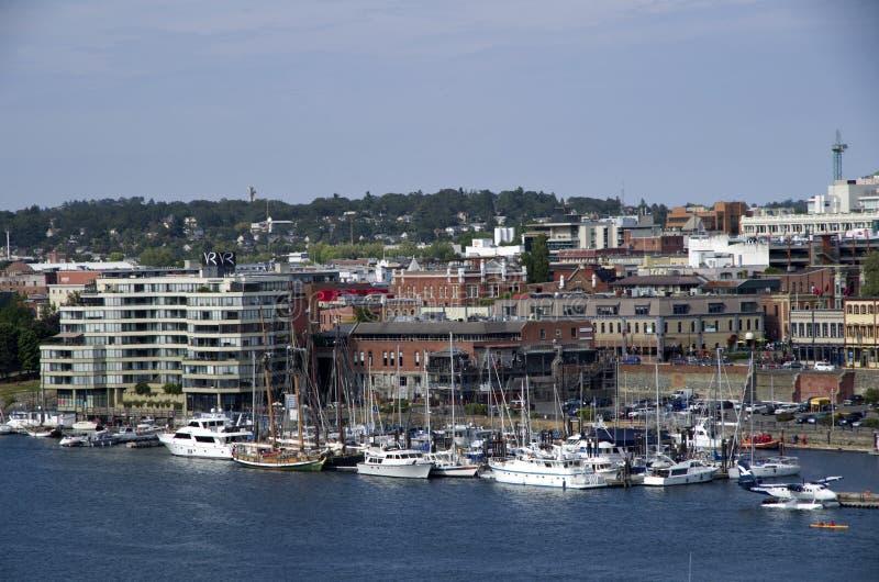 Mooie oude stad van Victoria BC stock fotografie