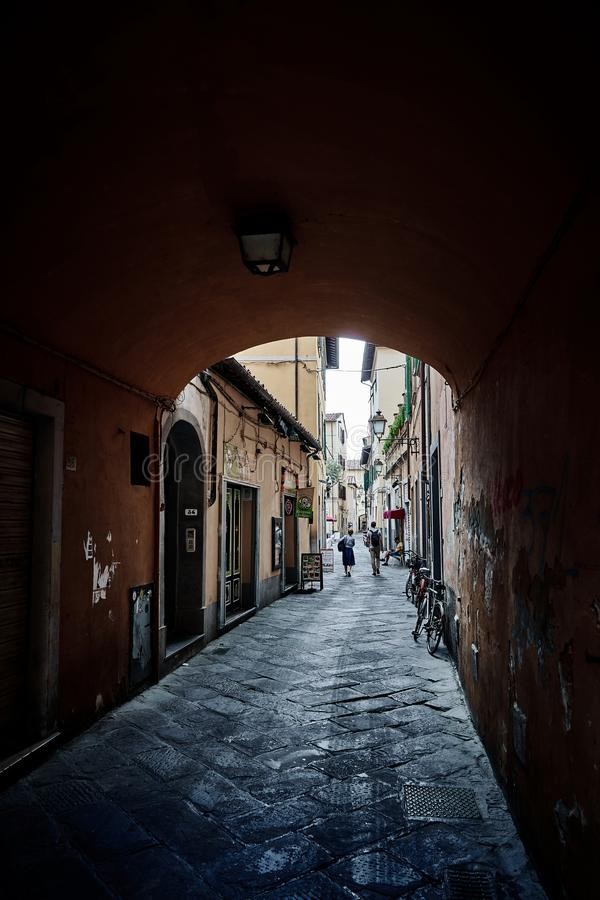 Mooie oude straat in Florence Tuscany, Itali? stock fotografie