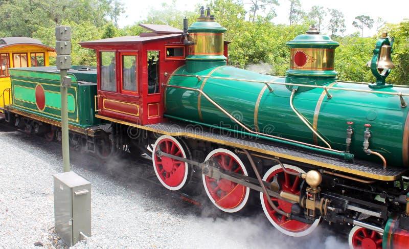 Mooie oude trein royalty-vrije stock afbeeldingen