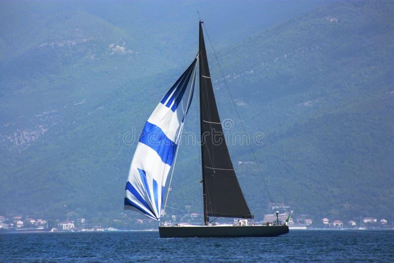 Mooie overzeese mening in Montenegro stock foto