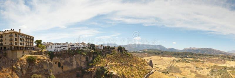 Mooie panoramische foto van de stad Ronda. royalty-vrije stock foto