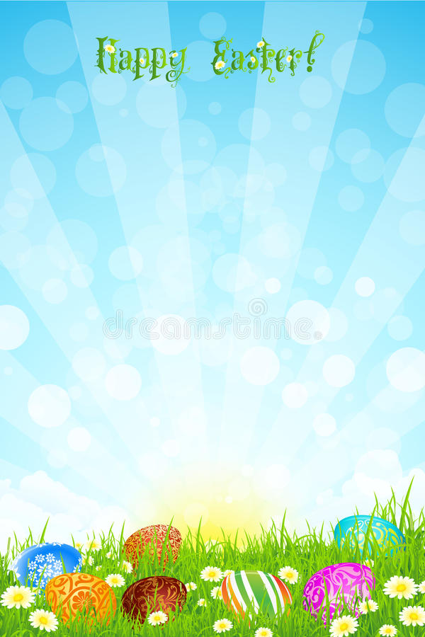 Mooie Pasen achtergrond vector illustratie