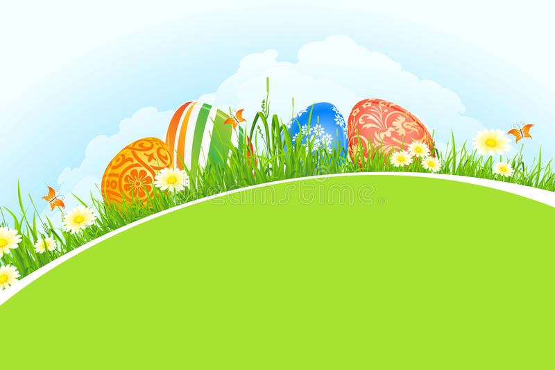 Mooie Pasen-Vakantieachtergrond royalty-vrije illustratie