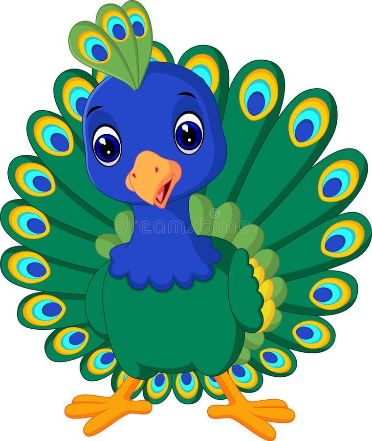 Mooie pauw vector illustratie