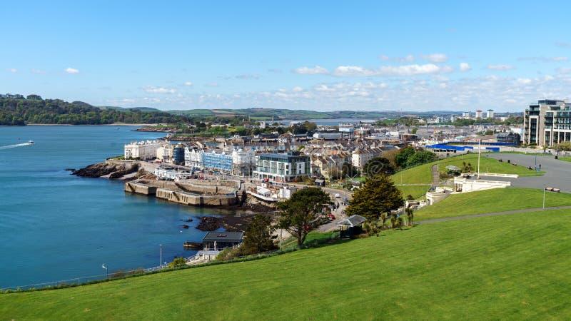 Mooie Plymouth-Schoffel, Devon, het Verenigd Koninkrijk, 3 Mei, 2018 royalty-vrije stock foto's