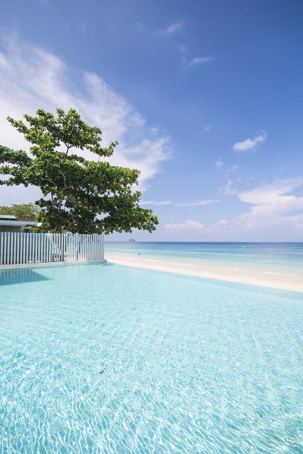 Mooie Pool door het Strand stock afbeelding