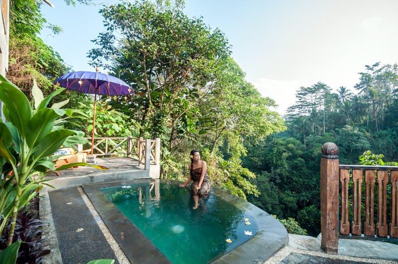 Mooie pool openlucht royalty-vrije stock fotografie