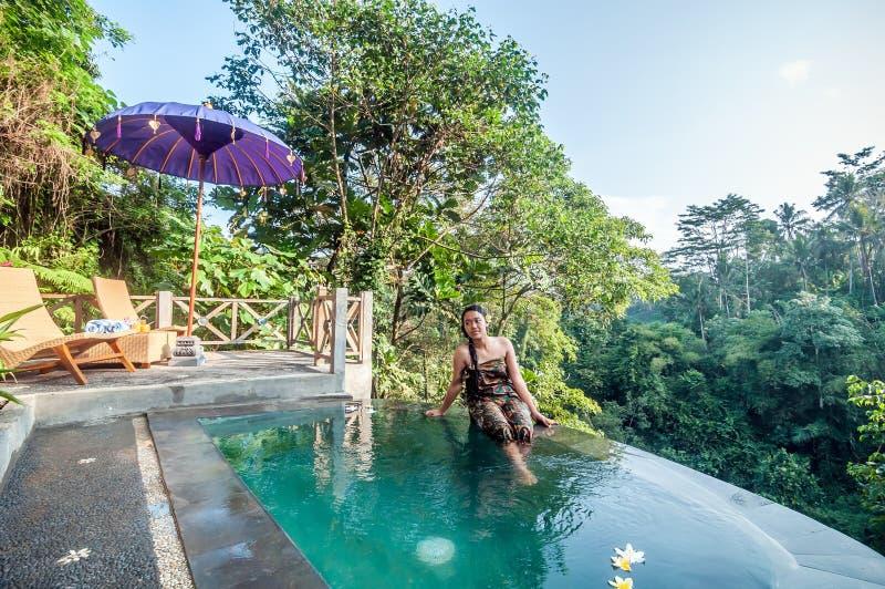 Mooie pool openlucht royalty-vrije stock afbeelding