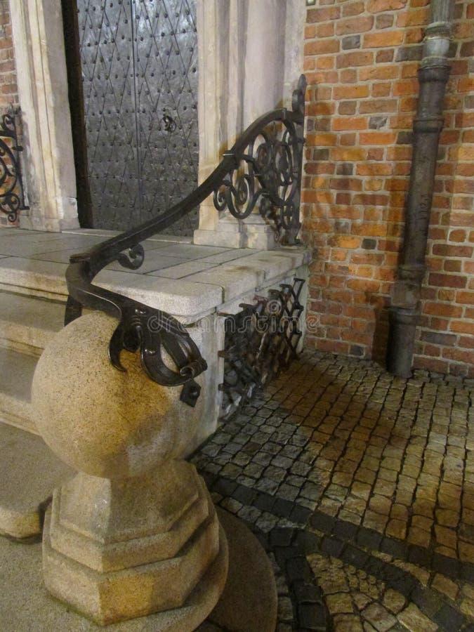 Mooie portiek van het stadhuis in Wroclaw, Polen royalty-vrije stock afbeeldingen