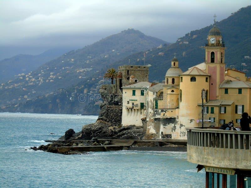 Mooie Portofino met kleurrijke huizen en villa's royalty-vrije stock fotografie